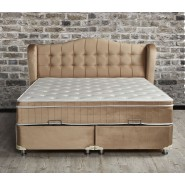 Boxspring Opbergbed Dorian Beige