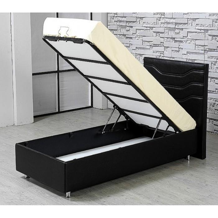 boxspring 100x200 twijfelaar baza steel met opbergruimte. Black Bedroom Furniture Sets. Home Design Ideas